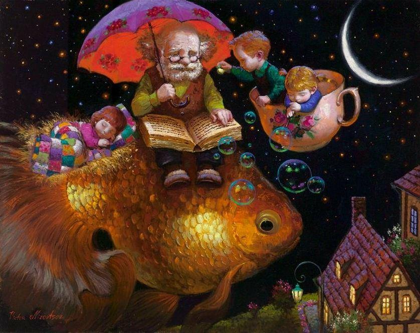 Художник Виктор Низовцев. Детские иллюстрации. Ночные сказки