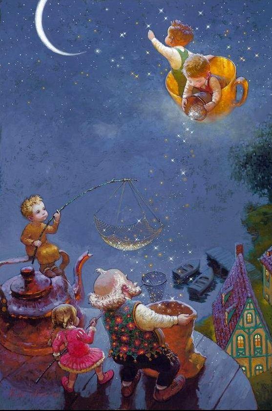 Художник Виктор Низовцев. Детские иллюстрации. Звезды рядом