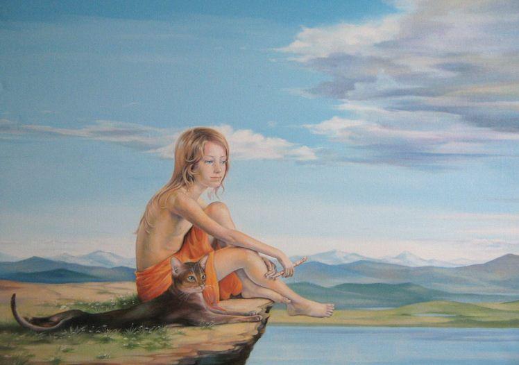 Художница Светненко Наталия. Музыка безмолвия. 50х70  холст масло