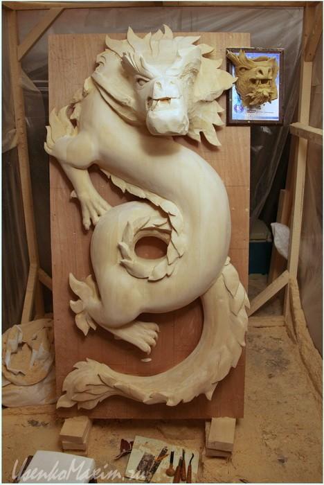 Изготовление деревянной скульптуры. Через пару недель