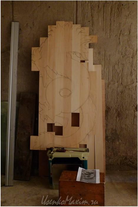 Изготовление деревянной скульптуры. Щит-основание