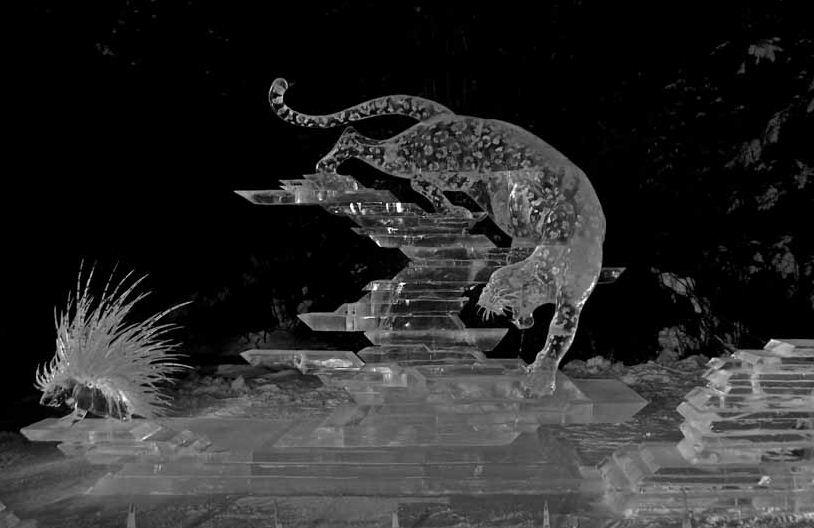 Ледовая скульптура. 1 место. Колючий прием