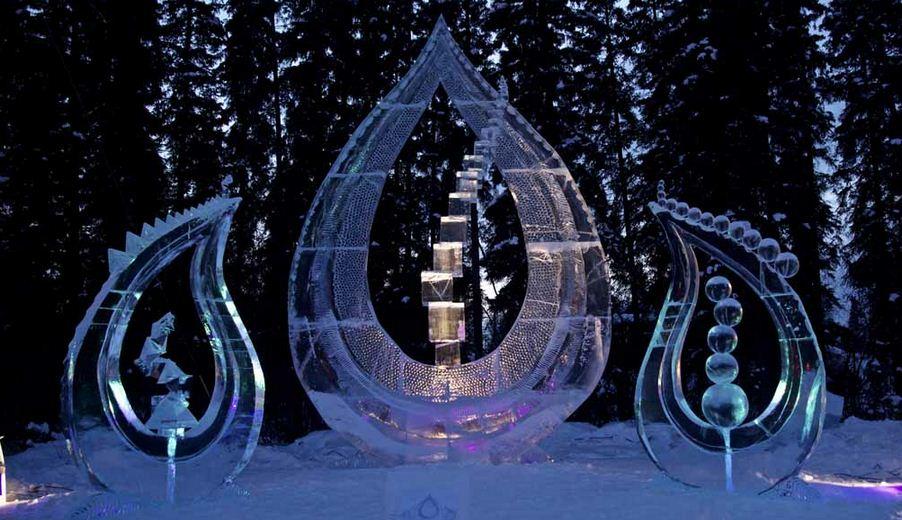 Ледовая скульптура. 6 место. Geoflames