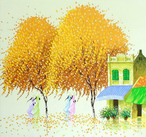 Мастихиновая живопись художницы Phan Thu Trang. Картина четвертая