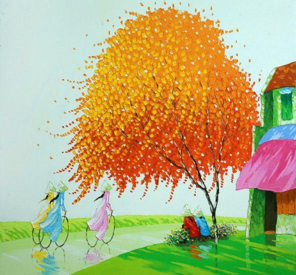 Мастихиновая живопись художницы Phan Thu Trang. Картина десятая