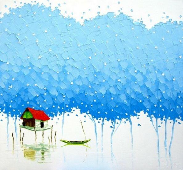 Мастихиновая живопись художницы Phan Thu Trang. Картина девятая