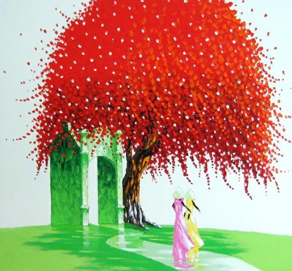 Мастихиновая живопись художницы Phan Thu Trang. Картина одинадцатая