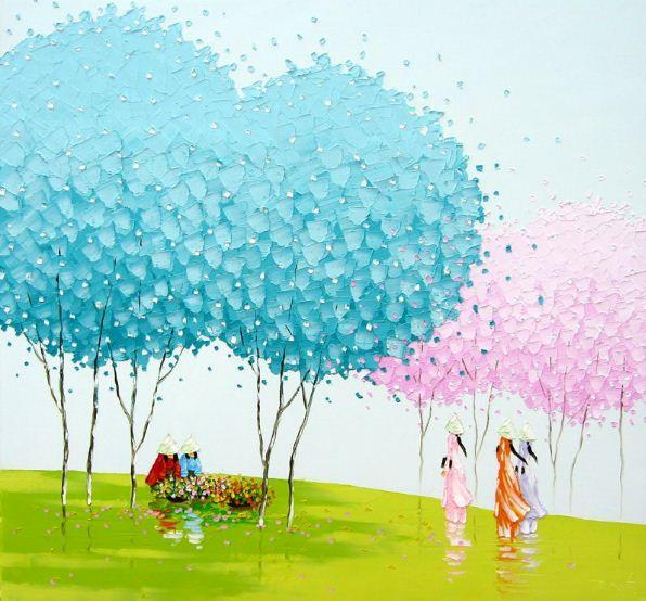 Мастихиновая живопись художницы Phan Thu Trang. Картина шестая