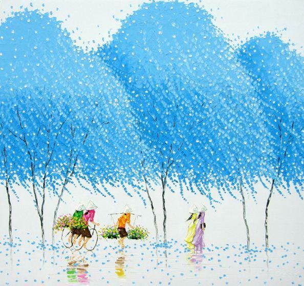 Мастихиновая живопись художницы Phan Thu Trang. Картина третья