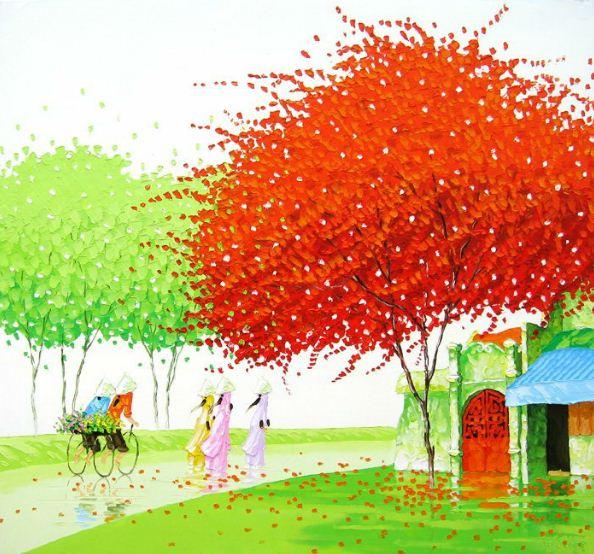 Мастихиновая живопись художницы Phan Thu Trang. Картина восьмая