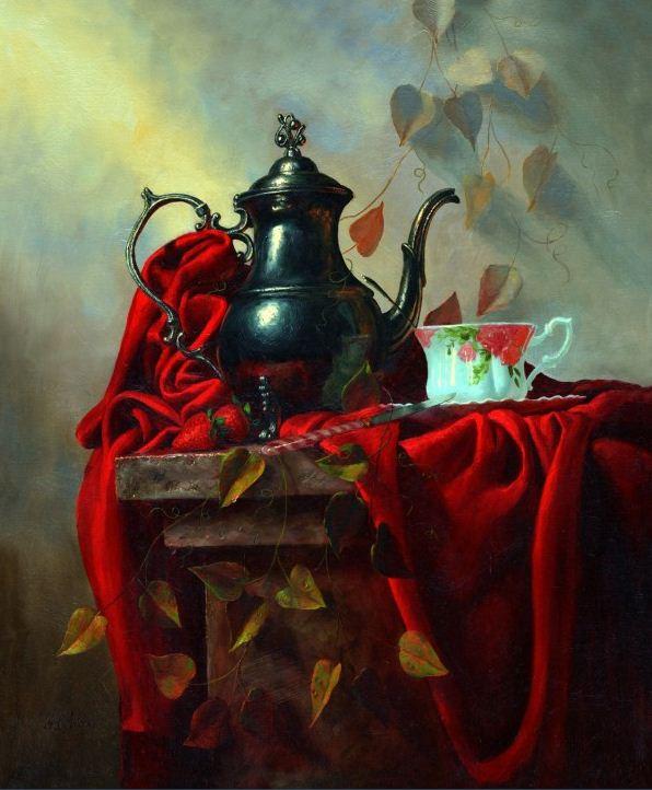 Натюрморт маслом Алексея Антонова. Картина пятнадцатая