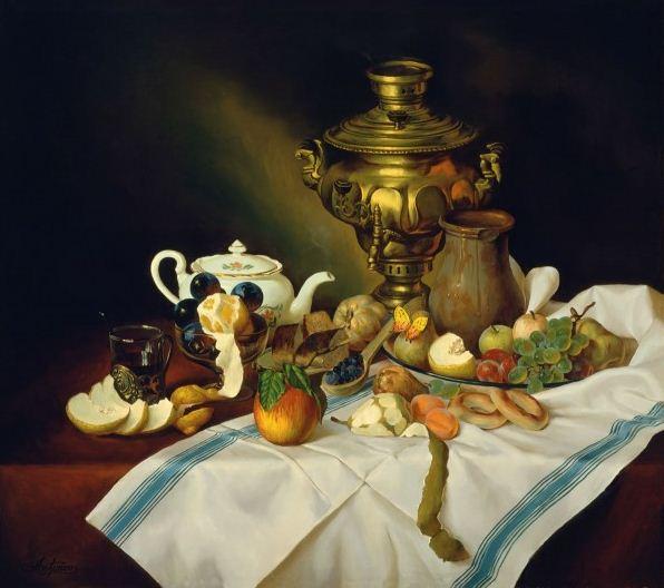 Натюрморт маслом Алексея Антонова. Картина семнадцатая