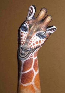 ZHiraf.-Neobyichnoe-iskusstvo-Finger-painting