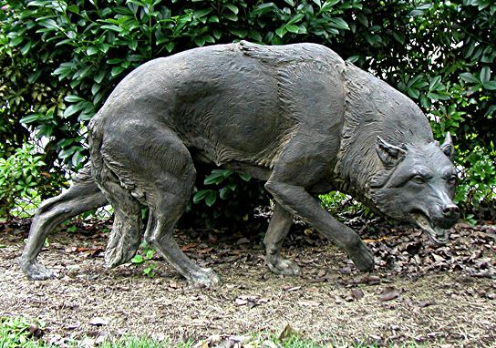 Скульптор Zenos Frudakis. Бронзовый волк в натуральную величину