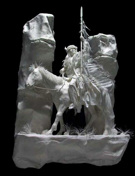 Скульпторы Allen and Patty Eckman. Бумажная скульптура четырнадцатая