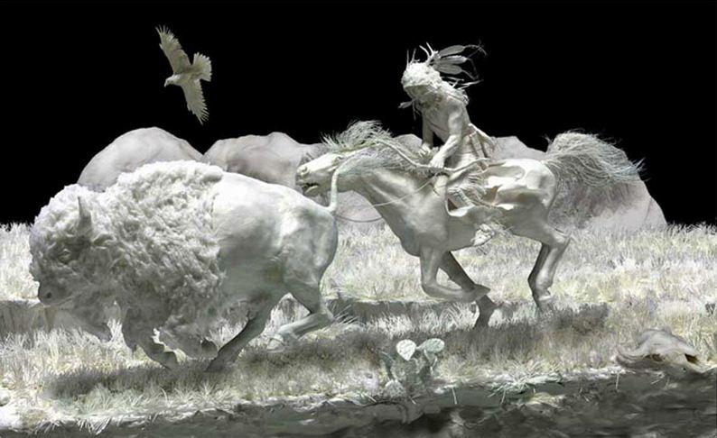 Скульпторы Allen and Patty Eckman. Бумажная скульптура двадцать четвертая