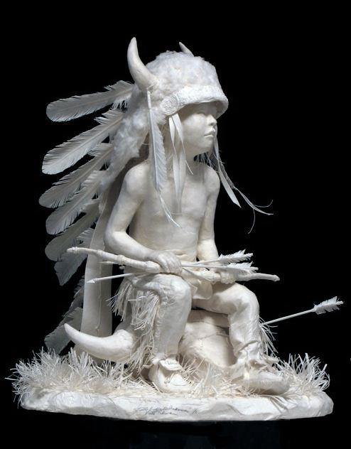 Скульпторы Allen and Patty Eckman. Бумажная скульптура двенадцатая