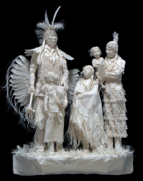 Скульпторы Allen and Patty Eckman. Бумажная скульптура седьмая