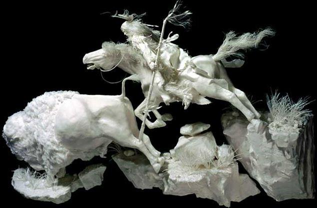 Скульпторы Allen and Patty Eckman. Бумажная скульптура семнадцатая