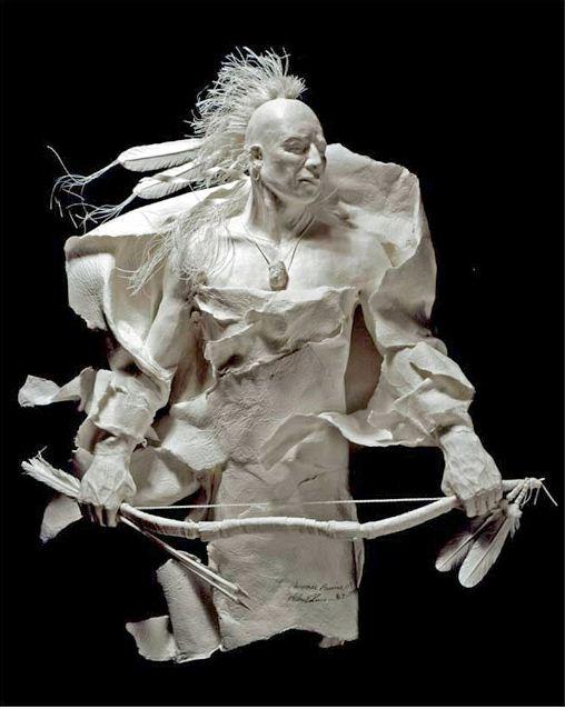 Скульпторы Allen and Patty Eckman. Бумажная скульптура третья