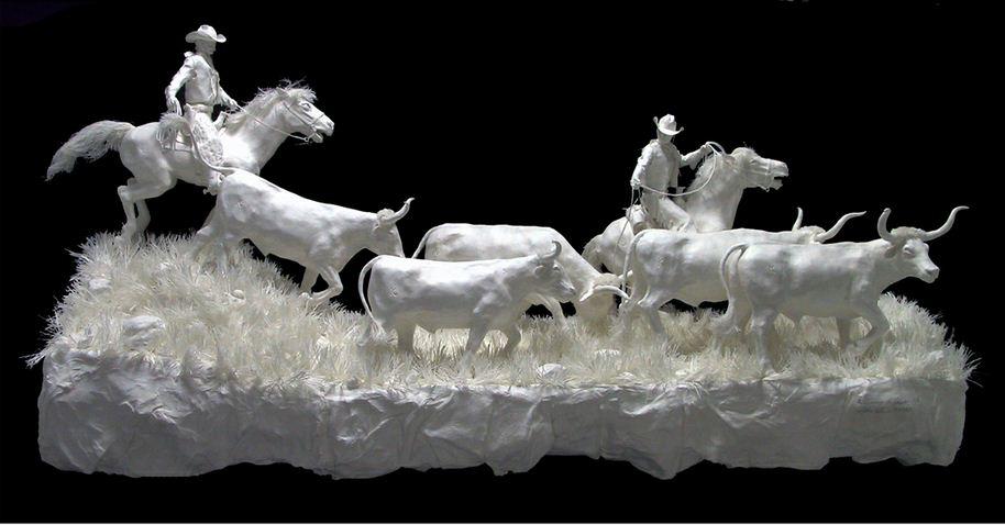 Скульпторы Allen and Patty Eckman. Бумажная скульптура восемьнадцатая