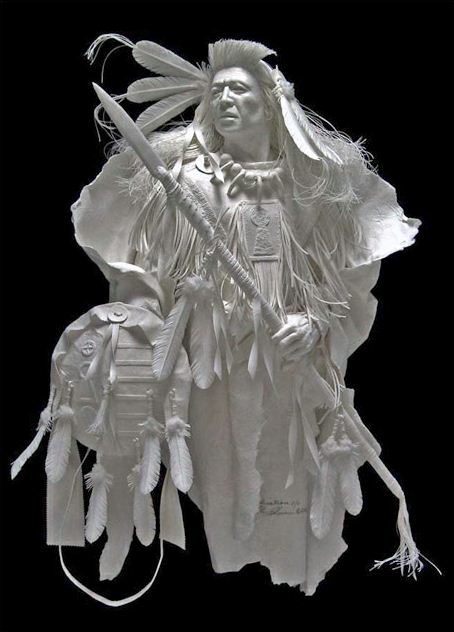 Скульпторы Allen and Patty Eckman. Бумажная скульптура вторая