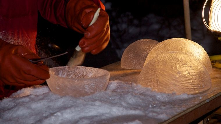 Аляска 2012. Сингл блок. Скульптура BIRTH OF MATTER. В процессе создания.  5 место
