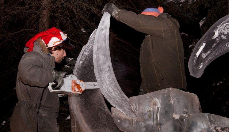 Аляска 2012. Сингл блок. Скульптура Dragontango. В процессе. 8 место
