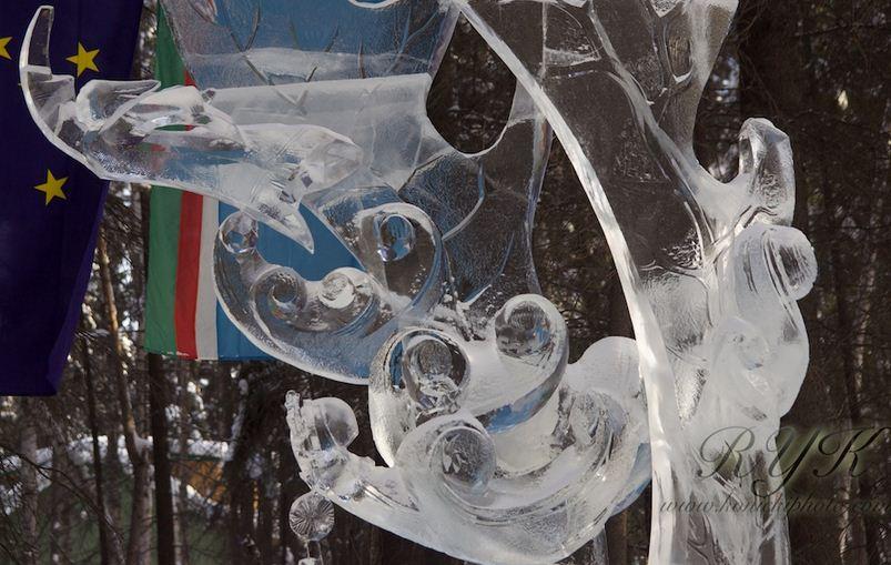 Аляска 2012. Сингл блок. Скульптура Духи предков. Фрагмент.  9 место