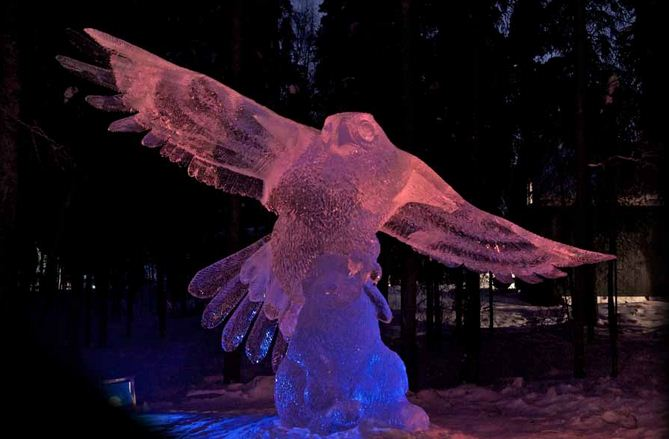 Аляска 2012. Сингл блок. Скульптура Hudson Hawk. 4 место
