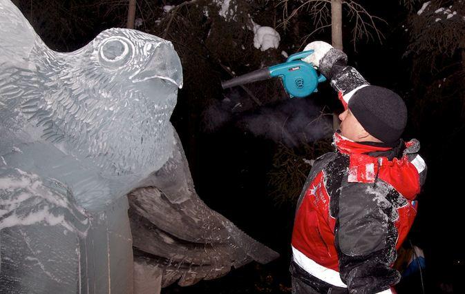 Аляска 2012. Сингл блок. Скульптура Hudson Hawk. Фрагмент. 4 место