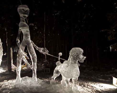 Аляска 2012. Сингл блок. Скульптура Space Dog.  6 место