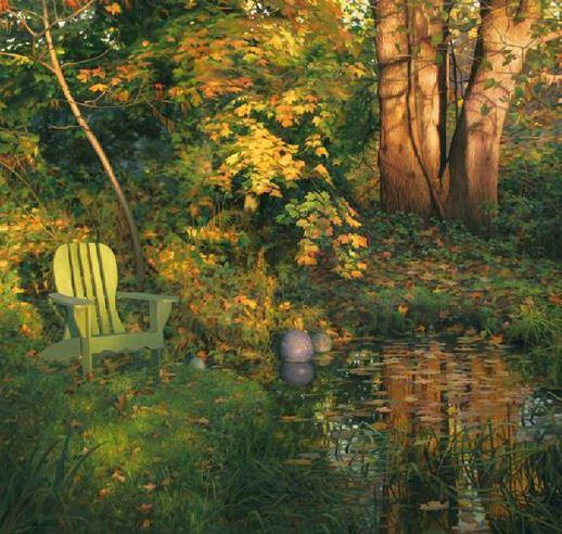 Amerikanskiy-hudozhnik-Scott-Prior.-Natyurmort-Backyard-in-Autumn