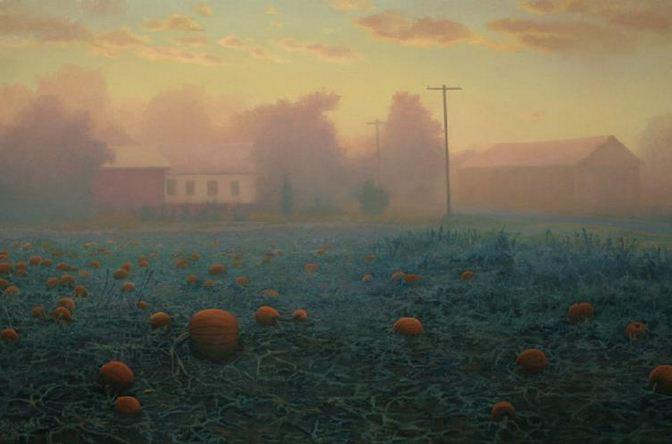 Amerikanskiy-hudozhnik-Scott-Prior.-Natyurmort-Pumpkin-Field