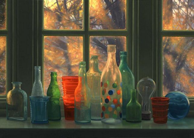 Amerikanskiy-hudozhnik-Scott-Prior.-Natyurmort-Window-Winter-Sunrise