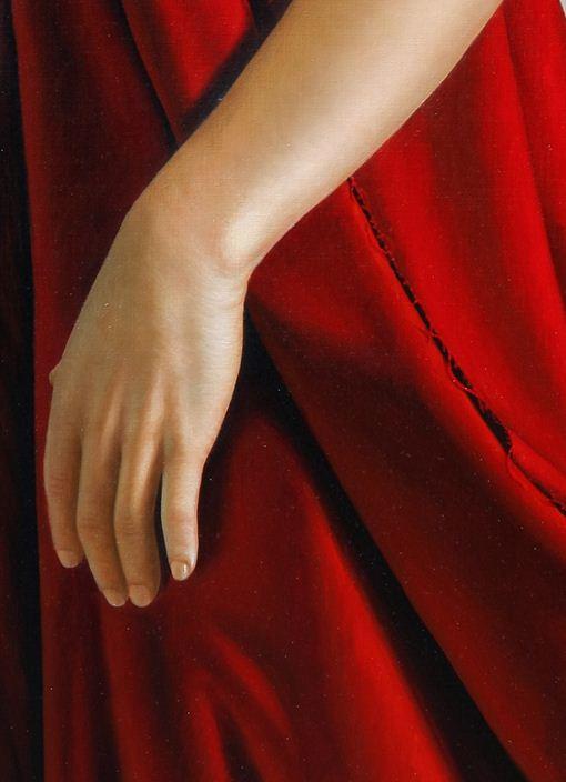 Художник Omar Ortiz за работой. Масляный гиперреализм. 180х180 фрагмент холст масло