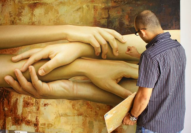 Художник Omar Ortiz. Гиперреалистичная картина 150х200 холст масло