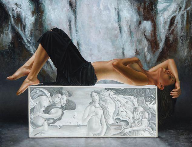 Художник Omar Ortiz. Гиперреалистичная картина. Размер не выяснил. Холст масло