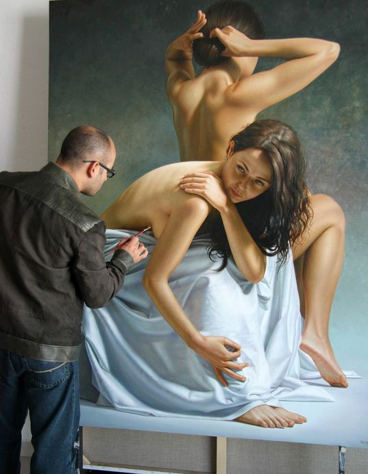 Художник Omar Ortiz. Масляный гиперреализм. Картина 180х140 холст масло