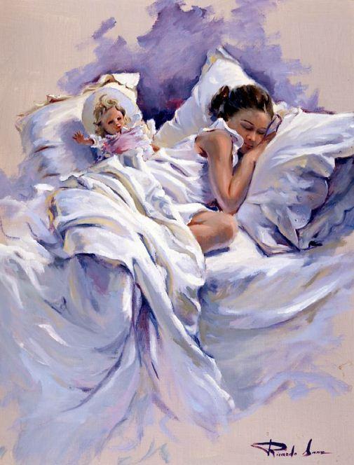 Художник Ricardo Sanz. Картина женщин маслом девятая