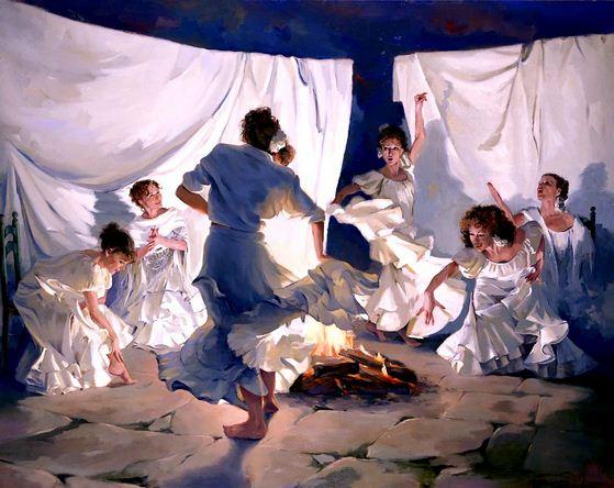 Художник Ricardo Sanz. Картина женщин маслом одинадцатая