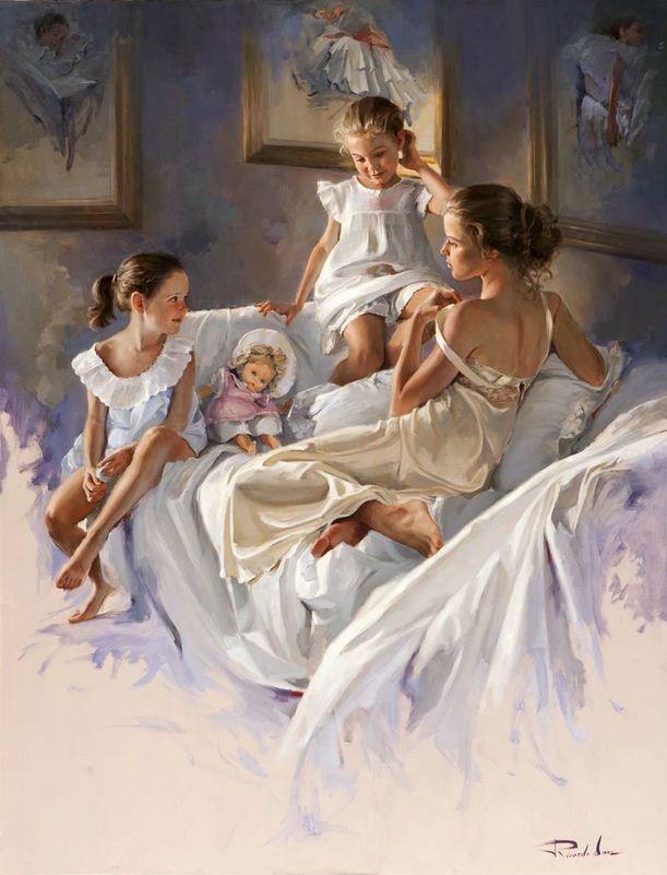 Художник Ricardo Sanz. Картина женщин маслом первая