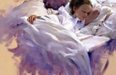Художник Ricardo Sanz. Картина женщин маслом пятая