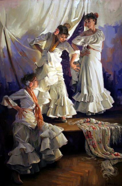 Художник Ricardo Sanz. Картина женщин маслом седьмая