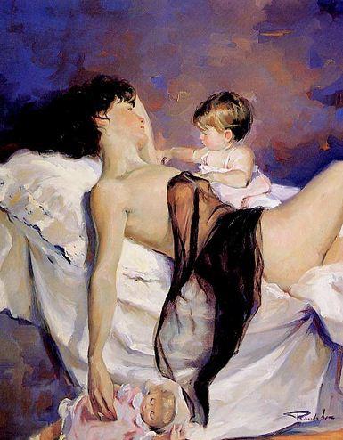 Художник Ricardo Sanz. Картина женщин маслом восьмая