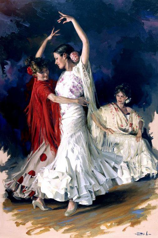 Художник Ricardo Sanz. Картина женщин маслом вторая