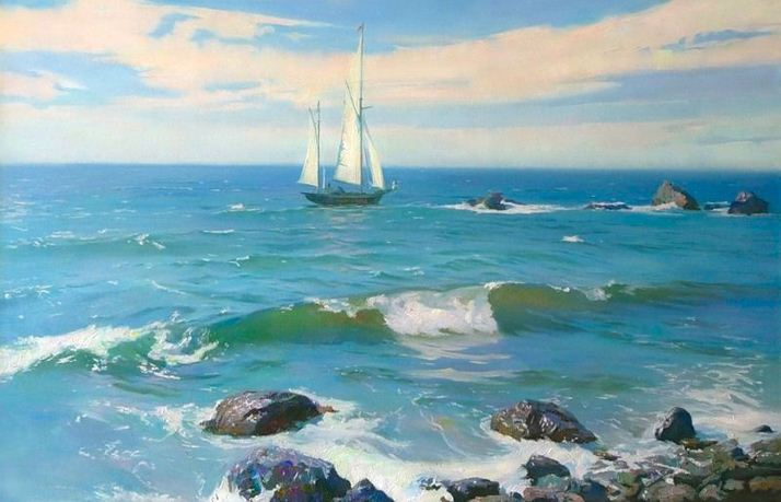 За морем