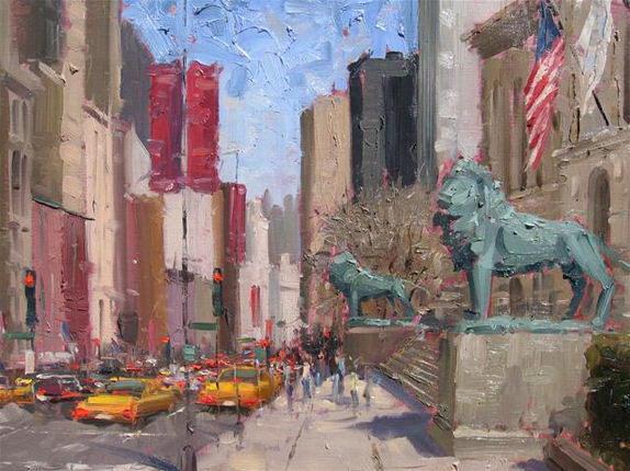 Impressionizm-E.J.Paprocki.-Kartina-Art-Institute.-16h20-dyuymov-holst-maslo