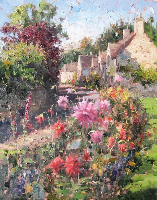 Impressionizm-E.J.Paprocki.-Kartina-Chipping-Campden.-20h16-dyuymov-holst-maslo