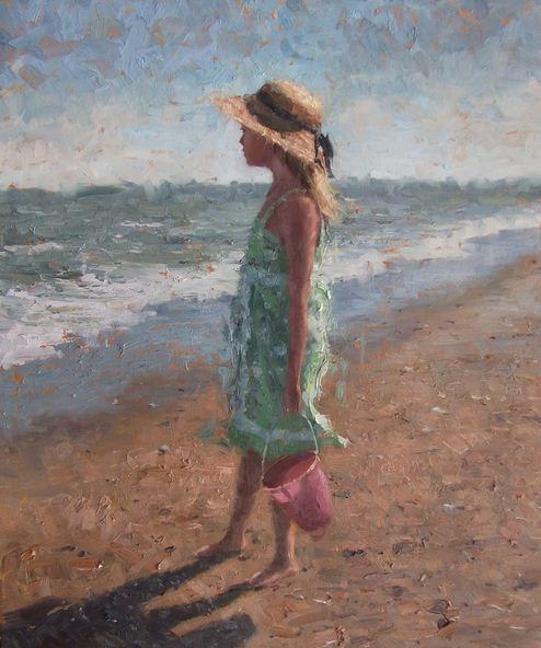 Impressionizm-E.J.Paprocki.-Kartina-Maggie.-30h24-dyuymov-holst-maslo